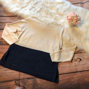 Joie Tops - Joie Colorblock Linen Long Sleeves Top